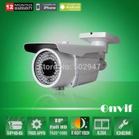 Varifocal Lens 2.8-12mm 78 IR H.264 HP 1080P 25fps 1920*1080 Network IP Camera Waterproof Security CCTV Onvif