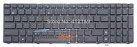NEW Laptop Keyboard for Asus K72 K72S K73 K73E K73S K73SD K73SJ K73SM K73SV UI US black with Frame & Blue Icon free shipping