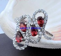 Garnet ring Free shipping Garnet rings Natural red garnet 925 sterling silver Fine jewelry  Women's jewellery