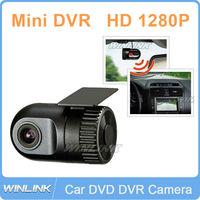 2013 HD 720P Smallest Car Black Box Recordeye With G-Sensor Video Recorder , In Dash Car DVR For GPS DVD Player