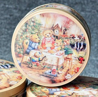 3Pcs/Lot  Teddy Bear  tin / box / candy / tin box