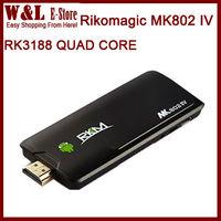 Rikomagic MK802 IV Quad Core Android TV Box RK3188 MINI PC 2GB RAM 8GB ROM Bluetooth HDMI WIFI MK802IV Smart TV BOX TV Stick