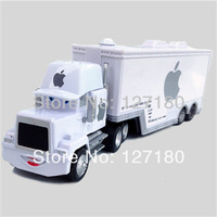 Hot ! Pixar  Cars MACK TRUCK  Apple white  toy alloy Diecast  ! 2013 newest  product !