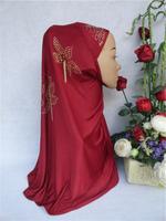 Free Shipping,2014 new arrival,muslim bandanas hijab with rhinestones, Islamic Hijab and arabic scarf