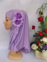 Free Shipping, muslim Hijab,Islamic Hijab with two flowers,arabic scarf,muslim scarf,Mixed colors,fast delivery