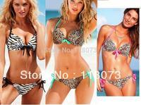 Hot Sale sexy women leopard print triangl swimwear push up bathing suit tops cute cheap swimsuit biquini brasileiro