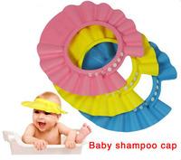 Hot Sale Baby Shampoo Caps Infant Shampoo Cap Child Shower Hat Candy Color Kid Shampoo Bath Headwear Adjustable Baby Accessories