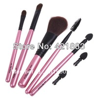 5pcs Cosmetic Makeup Brush Set Eyelash Lip Brush Eyeshadow Sponge Free Shipping Dropshipping