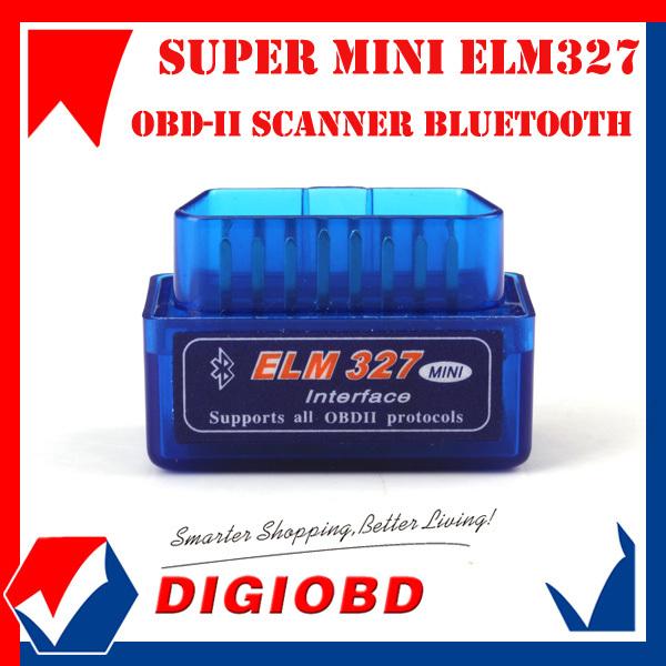 2014 Lowest Price Super Mini ELM327 Bluetooth V1.5 OBD2 auto code reader mini 327 Car diagnostic interface ELM 327 FREE SHIPPING(China (Mainland))