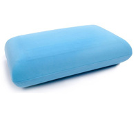1pc factory direct 100% gel  40*25cm polyurethane foam cooling memory foam gel pillow (blue)