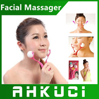 Fashion Smile Up ball Rolling Ball Facial Massager Good Beauty face for Ladies Free shipping
