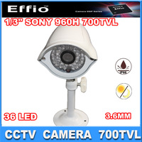 1/3 Sony Effio-E CCD 700TVL IR Waterproof Outdoor Indoor  CCTV Camera 3.6MM lens 36pcs IR LEDs Day Night Vision security camera