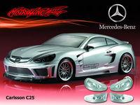 Stm-racing  BENZ CARLSSON C25 PC BODY SHELL PC201025  1:10 eletronic touring car  190mm