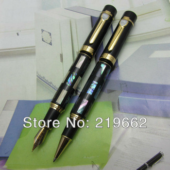 JINHAO BRIGHT PEARL DARK GREEN SEA MEDIUM NIB FOUNTAIN AND ROLLER BALL PEN