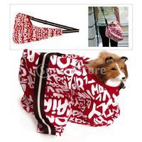 Free Shipping Red-white Sling Pet Carrier Cat Dog Tote Single Shoulder Bag
