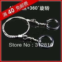 Wholesale free shipping 360 degree rotating wire saw survival survival jigsaw survival saw the wild camping supplies