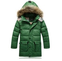 New 2013 Boys in the long section thick warm breathable jacket for men and children's clothing   E3574