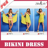 V Neck Open-Back Cover Up Summer Swimsuits Long Sundress Bikini Beach Skirt Dress 300pcs Free Shipping