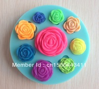 Free shipping 1PCS Rose shape Chocolate Candy Jello silicone Mold Mould cake tools Bakeware Pastry bar Soap Mold