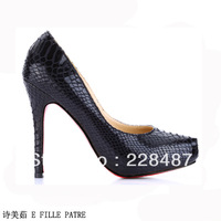 Free shipping HOT sale 2013 new  Fashion new arrival ultra red sole high heels platform snakeskin single shoes blue 9919-p16-3