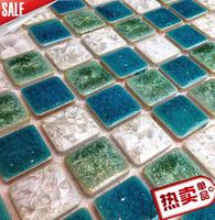 Ceramic Mosaic ceramic tile kiln green rural background wall of the sitting room toilet window