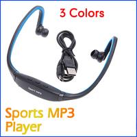 5 pcs/lot New USB Earphones Headphones FM Radio Sports MP3 Player With TF Slot wholesale