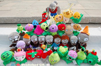 Free Shipping for 1 lot/5 pieces plants, Plants Vs Zombies Plush Toys, 17 Plants for choose, crazy gift for kids zombie vs plant