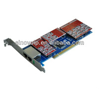 TDM810P 8 Ports FXO/FXS analog asterisk card Single side with 4 dual FXO/FXS PCI  for 2U classis high