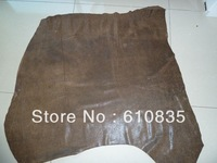 Vintage retro finishing cowhide brown cowhide second layer of cowhide leather diy genuine leather