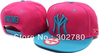 Ymcmb  pink and blue button baseball cap casual hiphop hip-hop cap ny flat along the cap hiphop cap ny female hat
