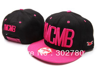 Ymcmb back and pink one size button baseball cap casual hiphop hip-hop cap ny flat along the cap hiphop cap ny female hat