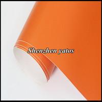 1.52x30M/roll Matte Orange Vinyl Wrap Car Body Decoration Sticker with Air Release Drains