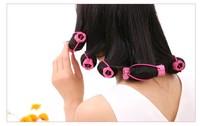 6pcs/pack girl Hair styling Sponge magic hair curler Flower shape Hair Roller,not hurt Hair styling tools curls curler for women