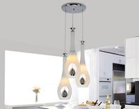 FREE SHIPPING endant Lights restaurant pendant light dining room crystal lamp white glass crystal lamp light