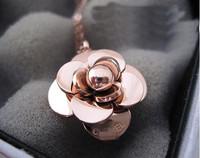 fashion necklaces for women 2015 High quality small titanium 14k rose gold necklace chain women's necklaces pendants