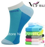 Free Shipping ~ 4pair /lot, Cotton  Wonen's  Sports patchwork  Sock Slippers  fit   36-41