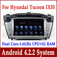 Android 4.0 Head Unit Car DVD Player for Hyundai Tucson / IX35 2009-2012 with GPS Navigation Bluetooth Radio TV USB Multimedia