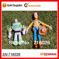Boneca Pelucia Brinquedos Toy Story Woody Buzz Lightyear Doll Soft Stuffed ( Plush + PVC) Toy For Children Kids Baby Gift 2Pcs