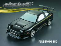 Stm-racing NISSAN 180SX PC BODY SHELL   PC201201  1:10 eletronic touring car  195mm