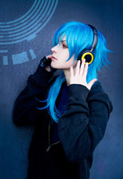 Free Shipping Cheap 60cm Medium DRAMAtical Murder DMMD-Seragakiaoba Blue Cosplay Anime Wig