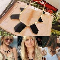 2014 Fashion Women House of Harlow imitation gold enamel Geometric Figure necklacs wholesale/retailer