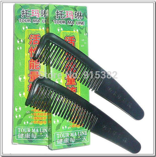 Free Shipping Wholesale Nano Magnetic Energy Tourmaline Health Massage Hair Comb 10PCS