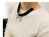 Fashion big gem elegant design short necklace