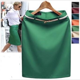 7 Color S- XXXL Verão 2014 cintura alta joelho das mulheres escritório formal Lápis Saias presente Belt Big Yard saia OL Ladies RD765(China (Mainland))
