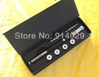 free shipping 2013 wholesale 1pc green laser 100mw  5in1 +gift package portable laser pointer  Office equipment