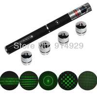 free shipping 2013 wholesale 1pc 100mw laser pointer laser kaleidoscope light 5in1 +gift package star laser pen