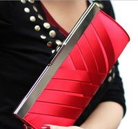 2014 High Quality Lady Fashion Elegant Handbag Woven Evening Clutch Bag Banquet Bag