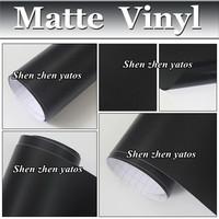 1.52M*5M Film Black Matte Air Free Vinyl Full Car Roll Wrapping Sticker Free Shipping