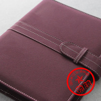Free Shipping A5 Faux Suede Fabric Leather Notebook 8.5 Inch Loose-Leaf Commercial Notebook