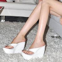 The 2014 summer flip-flops big yards Waterproof sandals goosegrass bottom anti-slip 10 cm for women's shoes fashion